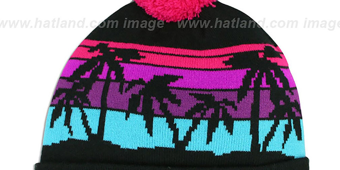 Cowboys 'WINTER TROPICS' VICE Multi Knit Beanie Hat by New Era
