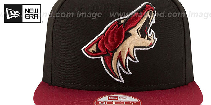 Coyotes 'LOGO GRAND REDUX SNAPBACK' Black-Burgundy Hat by New Era