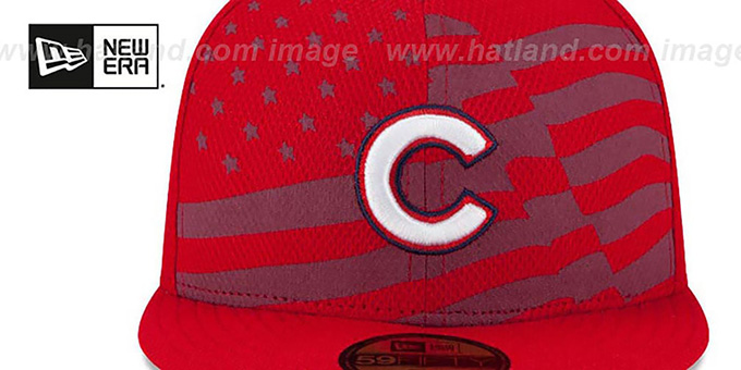 219ce0864d1 Chicago Cubs 2015 JULY 4TH STARS N STRIPES Hat by New Era