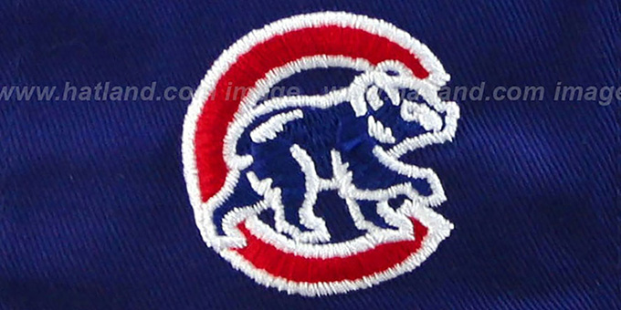 Cubs '2T PAYDIRT SNAPBACK' Royal-Red Adjustable Hat by New Era