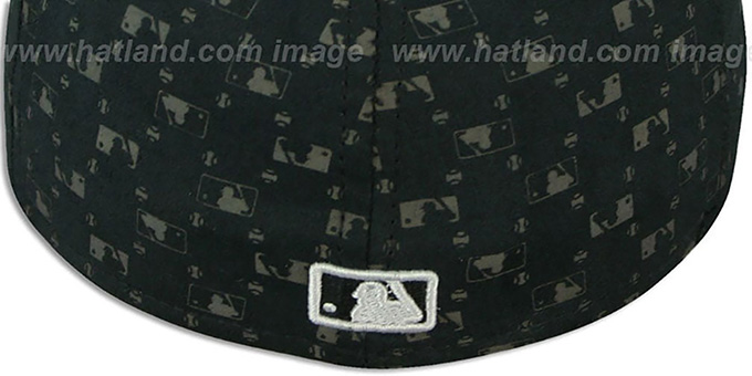 Cubs ALT 'MLB FLOCKING' Black Fitted Hat by New Era