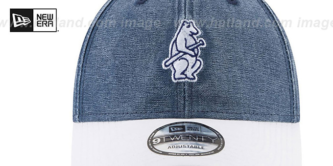 Cubs 'GW COOP RUGGED CANVAS STRAPBACK' Navy-White Hat by New Era
