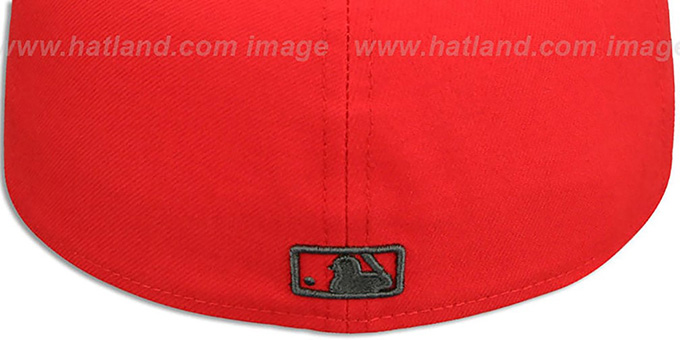 Cubs 'MLB ALT TEAM-BASIC' Fire Red-Charcoal Fitted Hat by New Era