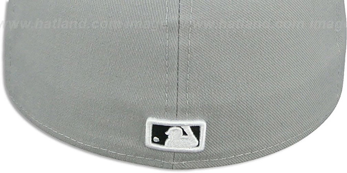 Cubs 'TEAM-BASIC' Grey-Black-White Fitted Hat by New Era