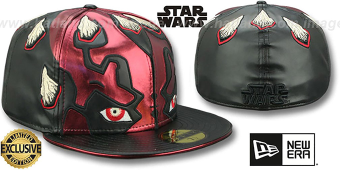 ad14cea014c23 Star Wars Darth Maul CHARACTER FACE Fitted Hat by New Era