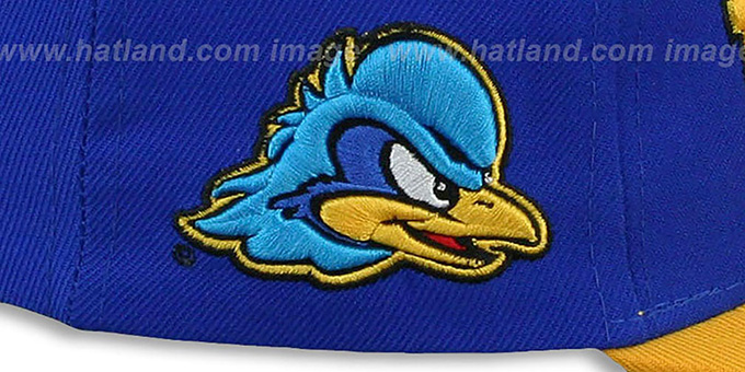Delaware 'LACROSSE SUPER-ARCH SNAPBACK' Royal-Gold Hat by Zephyr