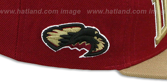 Denver 'LACROSSE SUPER-ARCH SNAPBACK' Burgundy-Gold Hat by Zephyr