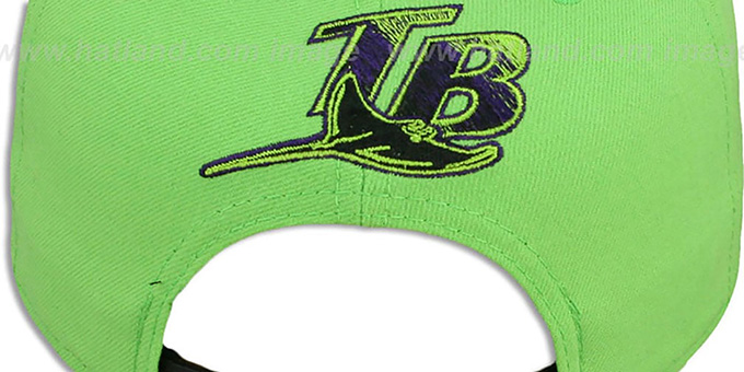Devil Rays '2T-FASHION SNAPBACK' Lime-Purple Hat by New Era