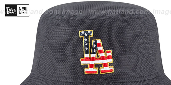 Dodgers '2018 JULY 4TH STARS N STRIPES BUCKET' Navy Hat by New Era