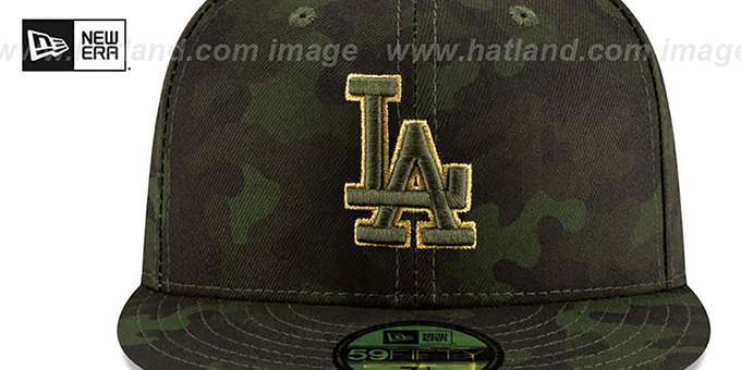 Dodgers 2019 ARMED FORCES 'STARS N STRIPES' Hat by New Era