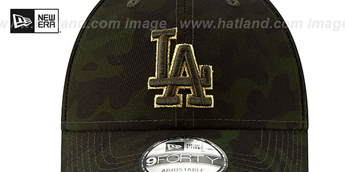 Dodgers 2019 ARMED FORCES 'STARS N STRIPES STRAPBACK' Hat by New Era