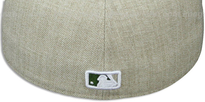 Dodgers '2T-HEATHER ACTION' Tan-Olive Fitted Hat by New Era