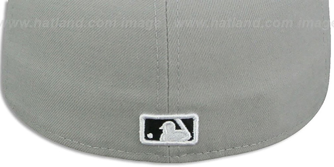 Dodgers '2T SPLIT TEAM-BASIC' Grey-Black Fitted Hat by New Era