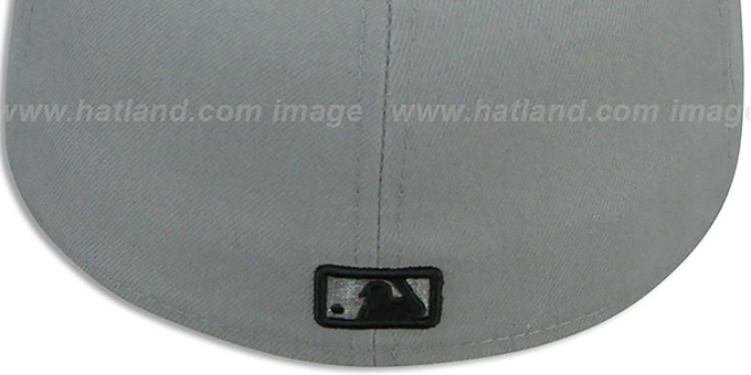 Dodgers '2T TEAM-BASIC' Grey-Black Fitted Hat by New Era