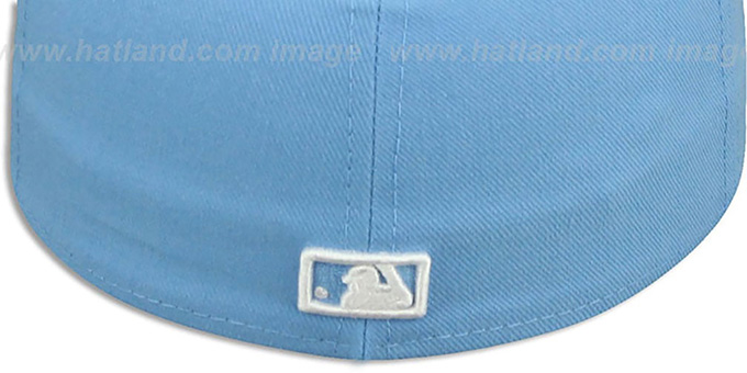 Dodgers 'D TEAM-BASIC' Sky-White Fitted Hat by New Era