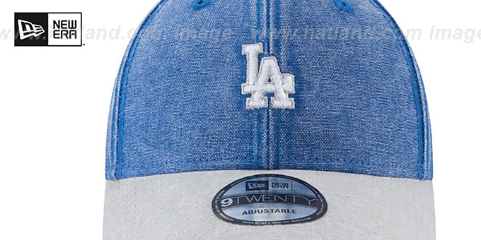 Dodgers 'GW RUGGED CANVAS STRAPBACK' Royal-Grey Hat by New Era