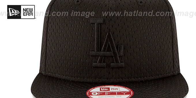 Dodgers 'JERSEY MESH TONAL SNAPBACK' Black Hat by New Era