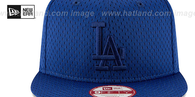 Dodgers 'JERSEY MESH TONAL SNAPBACK' Royal Hat by New Era