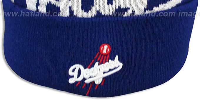 Dodgers 'MLB-BIGGIE' Royal Knit Beanie Hat by New Era