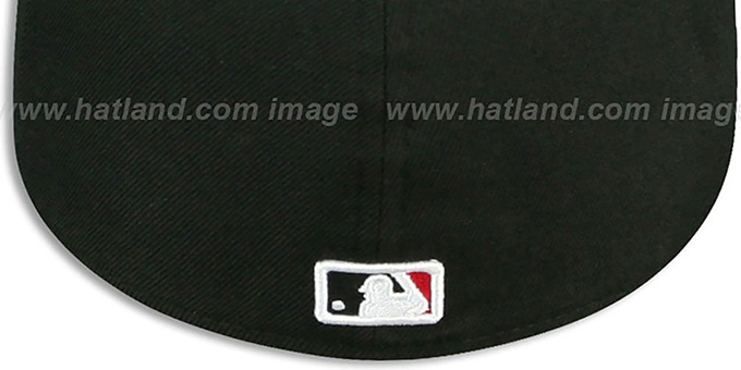 Dodgers 'SOLID TEAM-BASIC' Black-Red Fitted Hat by New Era