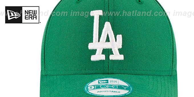b0cb664ad6f1b9 ... Dodgers 'ST PATRICKS DAY' Green Strapback Hat by New Era ...