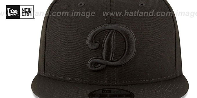 Dodgers 'ALTERNATE TEAM-BASIC BLACKOUT SNAPBACK' Hat by New Era