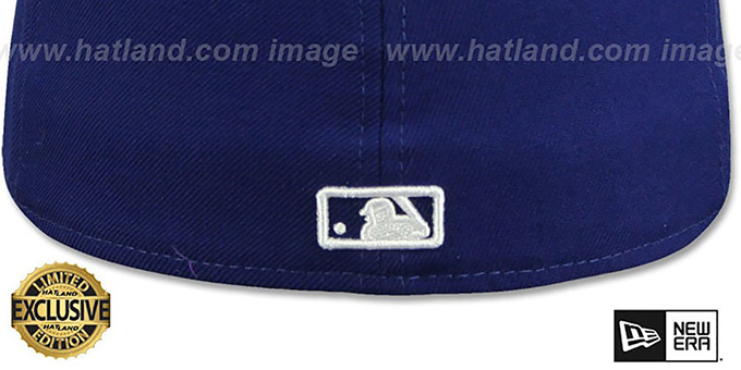 Dodgers 'WHITE METAL-BADGE' Royal-White Patent Fitted Hat by New Era