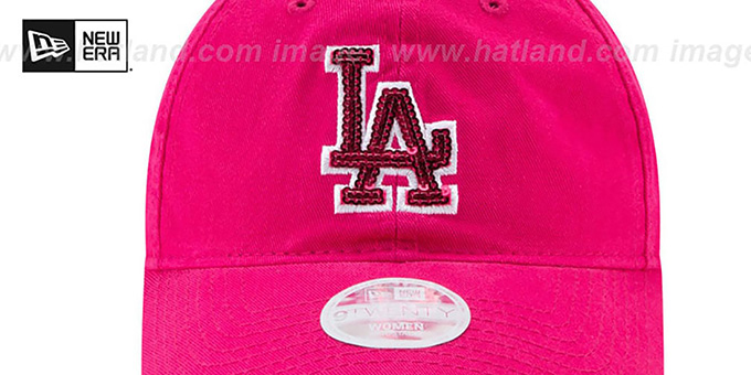Dodgers 'WOMENS MOTHERS DAY GLIMMER STRAPBACK' Pink Hat by New Era