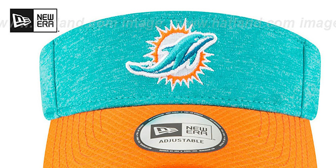 Dolphins '18 NFL STADIUM' Aqua-Orange Visor by New Era
