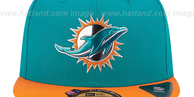 7e21e62c1 ... low cost dolphins 2015 nfl draft aqua orange fitted hat by new era  89177 59a4e