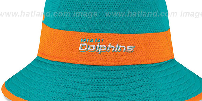 Dolphins '2015 NFL TRAINING BUCKET' Aqua Hat by New Era