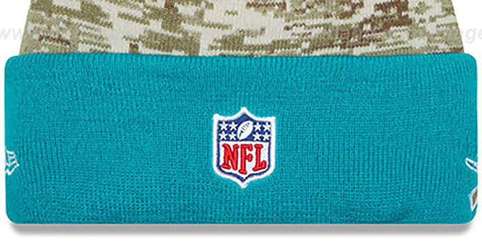 Dolphins '2015 SALUTE-TO-SERVICE' Knit Beanie Hat by New Era
