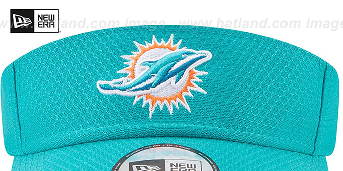 Dolphins '2017 NFL TRAINING VISOR' Aqua by New Era