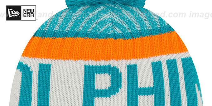 Dolphins '2017 STADIUM BEANIE' Aqua Knit Hat by New Era