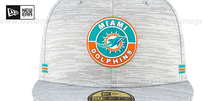 Dolphins '2020 ONFIELD STADIUM' Heather Grey Fitted Hat by New Era
