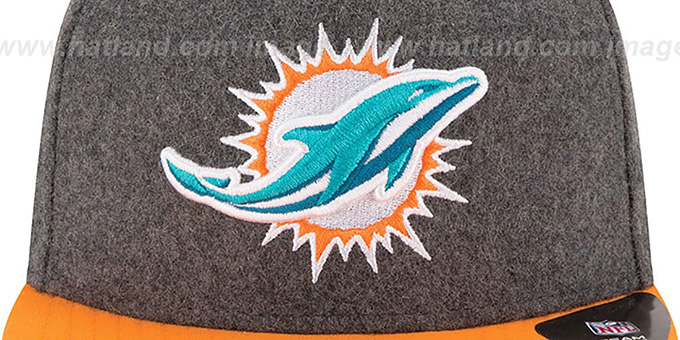 Dolphins '2T MELTON A-FRAME STRAPBACK' Hat by New Era