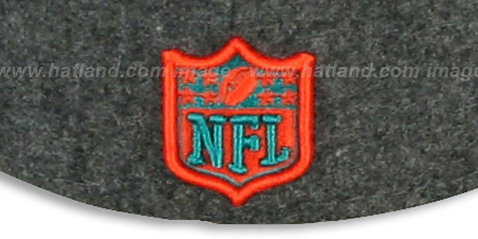 e65b52a0 ... Dolphins '2T NFL MELTON-BASIC' Grey-Orange Fitted Hat by New Era ...