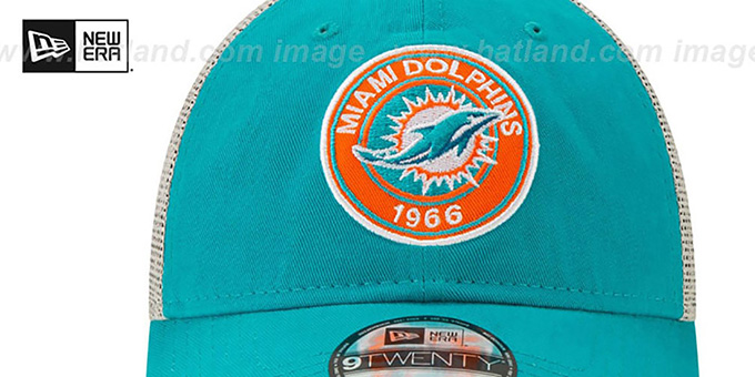 Dolphins 'ESTABLISHED CIRCLE TRUCKER SNAPBACK' Hat by New Era