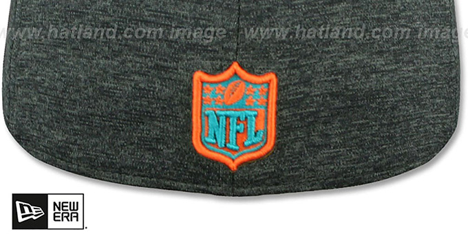 Dolphins 'HEATHER-HUGE' Grey-Black Fitted Hat by New Era