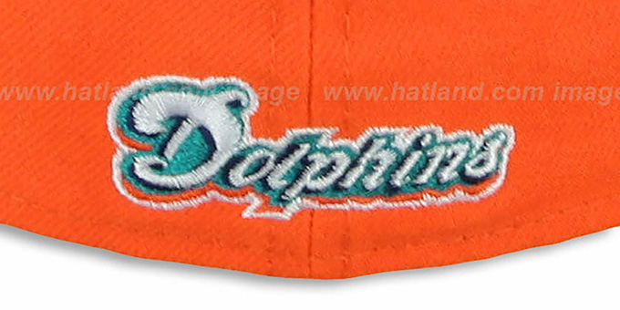 Dolphins 'NFL 2T-TEAM-BASIC' Orange-Aqua Fitted Hat by New Era