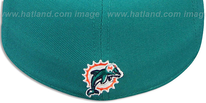 Dolphins 'NFL-SHIELD' Aqua Fitted Hat by Reebok