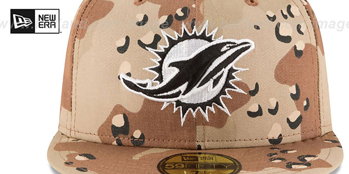 Dolphins 'NFL TEAM-BASIC' Desert Storm Camo Fitted Hat by New Era