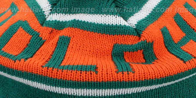 Dolphins 'RERUN KNIT BEANIE' by Mitchell and Ness