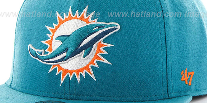 Dolphins 'SUPER-SHOT STRAPBACK' Aqua Hat by Twins 47 Brand