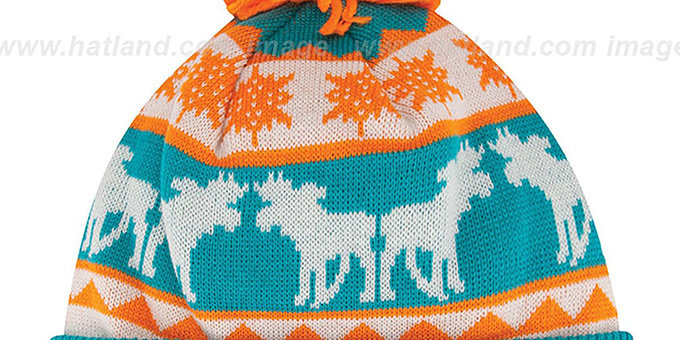 Dolphins 'THE-MOOSER' Knit Beanie Hat by New Era