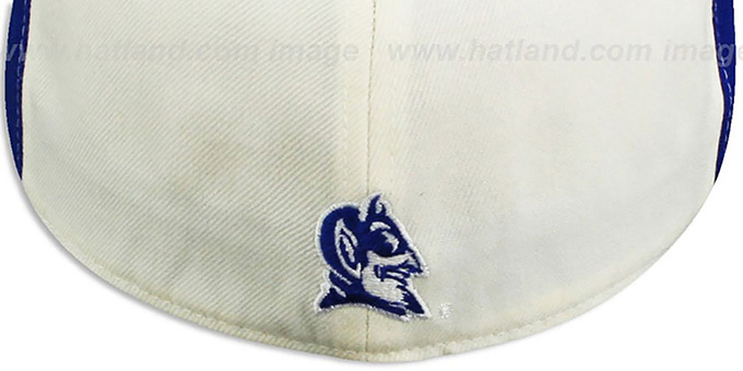 Duke 'PINWHEEL' White-Royal Fitted Hat by Top Of The World