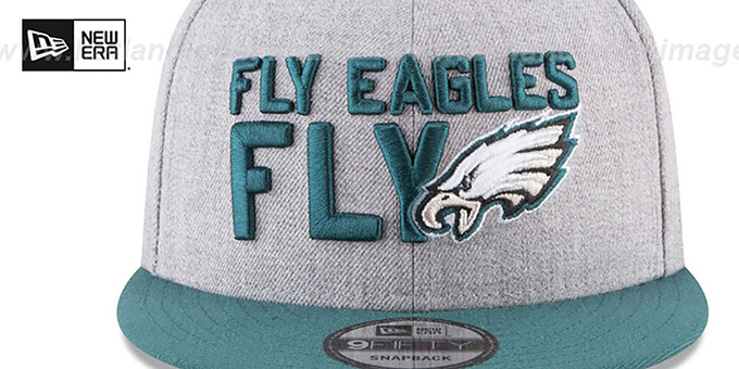Eagles '2018 ONSTAGE SNAPBACK' Grey-Green Hat by New Era