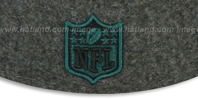 Eagles '2T NFL MELTON-BASIC' Grey-Green Fitted Hat by New Era