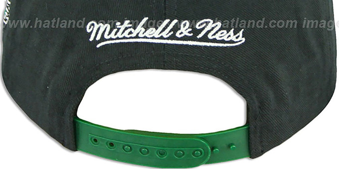 Eagles '2T TAILSWEEPER SNAPBACK' Black-Green Hat by Mitchell & Ness