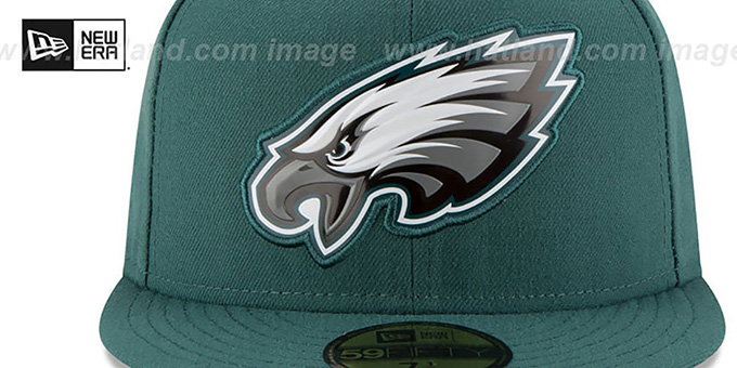 Eagles 'BEVEL' Green Fitted Hat by New Era